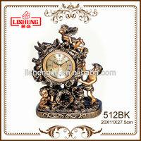Antique table clock bronze angel cherub 512BK