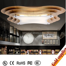 Indoor lighting modern new design wood ceiling lamp for hotel and home decoation