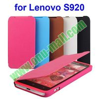 2014 Newest Litchi Texture Flip Leather Case for Lenovo S920