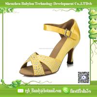 Top selling Professional Women satin rhinestone vamp Latin Shoes High Heel Dance Shoes Elegant Ladies Sandals in dance