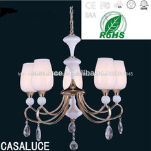 e14 bombilla de cristal de vidrio prisma araña de luz de la lámpara colgantes