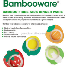 Factory Direct Selling Bamboo Dinnerware ,Bamboo Cute Shape Kids Dinner Sets