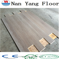 Oak washed grey color customized engineered flooring