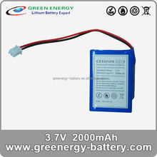 3.7v li lithium ion batterys prismatic batteries li-lion battery GEI103450 2000mah