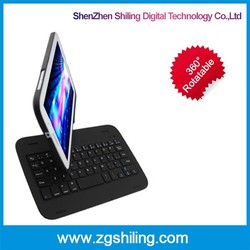 creative bluetooth keyboard with 360 degree rotating humanized design for Samsung N5100