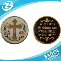 God Challenge Coin Good Luck Charm Metal Coin
