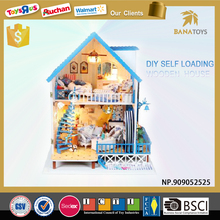 Merry Christmas gift diy lighting furniture toy barbie wooden doll house