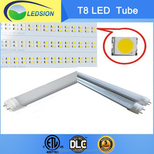 1.2m ETL DLC SAA 2835 18W T8 LED Tube 110lm/W PF 0.95 80Ra 2700-6500K aging test 24hours USA Canada warehouse 3-4days delivery