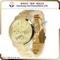 Fancy couple top brand luxury plastic bezel watch dropshipping chinese imitation manufacturer