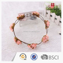 Wholesale flower girl hair wreath artificial high quality