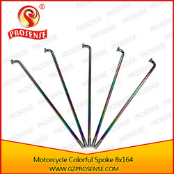 Prosense Chrome Colorful Motorcycle Rim Spoke 8x164 ( Spoke Rod Diameter: 4.0mm, Length 164mm)