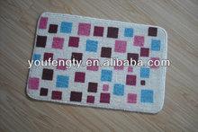 100% polyester printed fashion design door mat