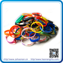 brand new Factory custom promotional printed silicone wristband for corporate anniversary gifts