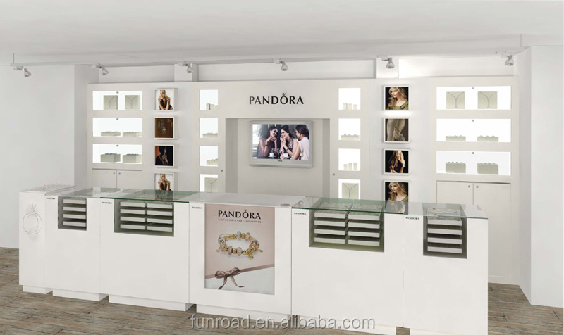 Modern pandora jewelry store interior design showroom for A t design decoration co ltd