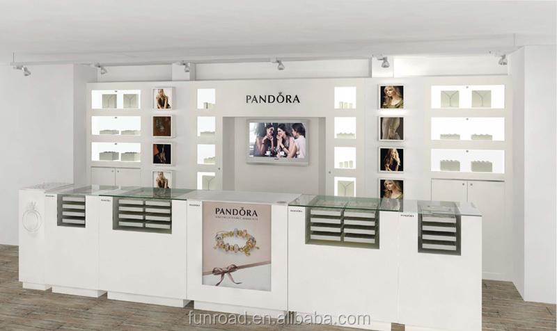 Modern pandora jewelry store interior design showroom for A t design decoration co ltd