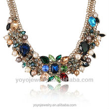 Beautiful latest desgin beads pearl statement necklace