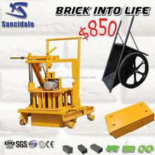 QT40-3C concrete block machine easy to operation, mobile block making machine