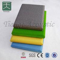 Fiber glass wool fabric covered fiberglass acoustic wall panel
