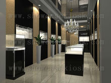 jewelry store furniture, jewelry display showcase store, custom jewelry store