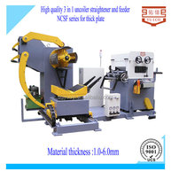 2015 hot sell decoiler leveler and feeder for stamping machine