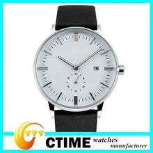 Luxury Design Genuine Leather Strap Quartz Watch for Men Fashion Casual Man Watch