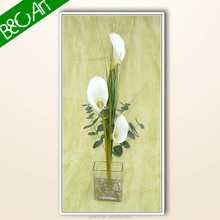 Nice wall paper decor beautiful white flowers photo print simple floral oil painting