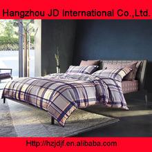 blue and white plaid prints men bedding sets wholesale bedding sets