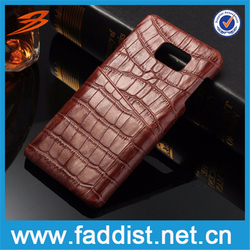 New Arrival Cover For note 5 Cowhide Leather Crocodile Pattern Case For note 5