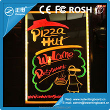 Best selling both long side and short side hanging colorful led writing board