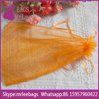 China manufacturer big drawstring organza lingerie bag