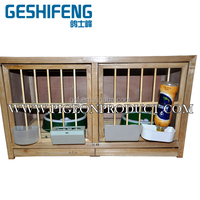1pc free shipping wooden male and female match pigeon cage