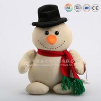 high quality customized Promotion Christmas snow man plush toy