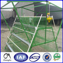 PVC coated 120 chickens 4 layers chicken cage with breeding system