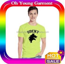blank design front logo printed t shirt,o neck cotton t shirts/gteen fashion wholesale cheap factory t shirt
