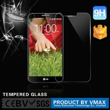 High Quality !! Ultra Thin 0.26mm 9H 2.5D HD Clear Mobile Phone 9H Milo tempered glass screen protector for LG G2 OEM/ODM