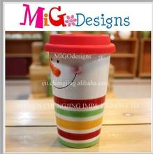 Wholesale ceramic mug snowman, snowman coffee mug, snowman mugs