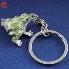 2015 New Frog Pendant Keychain / Squeeze Frog Keychain / Frog Key Chain