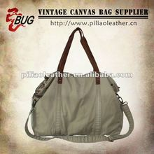 2013 Modern Look 100% Cotton Garment Shoulder Bag With Leather For Men/Women Good For Travelling