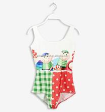 Childern print 3D digital printed one piece hot teen swimwear girl sexy image swimwear CYQ1174