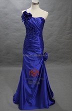 Elegant HMY-S273 Real Images Customized Royal Blue Shealth Backless Flower Fancy Dress Costumes