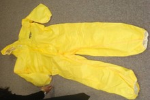 Disposable yellow gown overalls/Disposable Body overall suit/ Laminated PP+PE coveralls