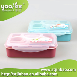 Food Grade Eco Friendly Hot Lunch Box Containers with Dividers