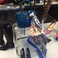 Custom shawl shelf, bag display, silk shawl display rack stand acrylic