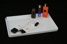 Acrylic Salt and pepper set with napkin holder/napkin holder with salt and pepper shaker