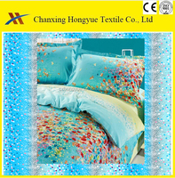 Soft feel Microfiber woven peach skin brushed print fabric for making home bedding sets