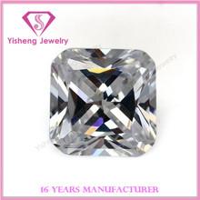 square cut corner radiant cut white cubic zirconia stone jewelry wholesale