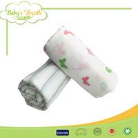 MS055 printed portable orinted cloth organic cotton baby muslin fabric, organic cotton muslin