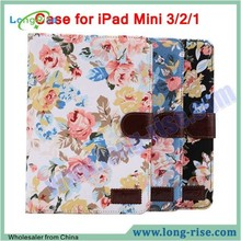 High Quality Flip Leather Case for iPAD Mini 3, for iPad Case Cover