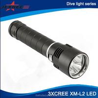 JEXREE 3xCREE XM-L2 Underwater LED Scuba Dive Light