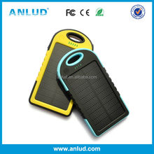 ALD-P03 5000mah solar charger, mobile solar charger, solar mobile phone charger with carabiner